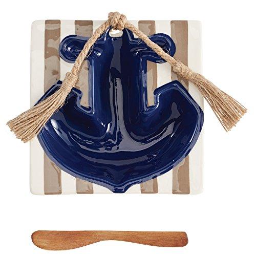 Mud Pie Anchor Dip Bowl and Spreader Set, Multicolor ()