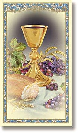 (New Body of Christ Jesus Catholic Christian First Communion Holy Prayer Card)