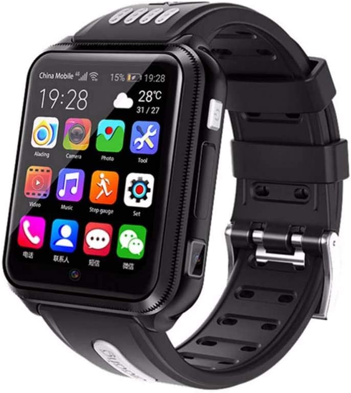 FDRYO Reloj Inteligente 4G para niños, Reloj Inteligente Impermeable para niños para iOS Android, con Tarjeta SIM y Tarjeta TF, cámara Dual, WiFi, GPS, rastreador, Reloj, Android SmartWatch