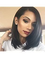 """14"""" Bob Wigs Short Straight Synthetic Hair Full Wigs for Women Natural Looking Heat Resistant"""