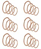 Masedy 24Pcs 20G 316L Stainless Steel Nose Rings