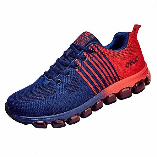Ben Sports hombre Zapatillas de Zapatos de cordones Calzado deportivo Calzado de correr en montaña de hombre rojo