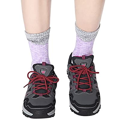 RedMaple 3 Pairs Camping Hiking Walking Socks for Women - Cushioned Comfortable Fitness Athletic Crew Socks for Outdoor… 6
