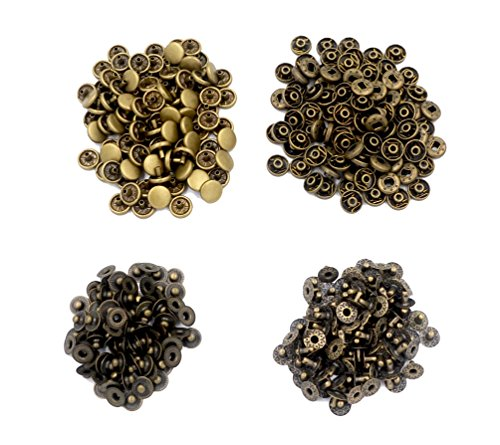 Best Deals! CrazyEve 100 Sets No Sewing Metal Press Studs Snap Fastener Refills 655 Snap Button (0.3...