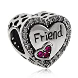 Best Fit Pandora Charms Friend Heart Charms - Friend Charm 925 Sterling Silver Friendship Charm Heart Review