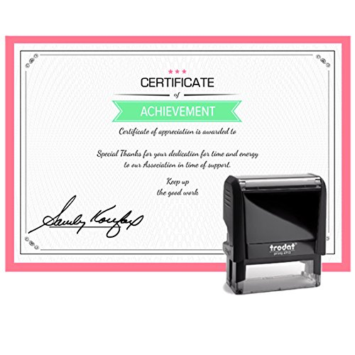 Blue Ink, Signature Stamp, Self Inking. Your Own Signature Customized into the Best Quality Stamper. Great For Regular Signing. Color Options Available. Sign Off Checks, Contracts, Certificates by Pixie Perfect Signature Stamps (Image #7)