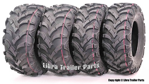 Wanda P341 ATV/UTV Tires 25 x 8-12 Front & 25 x 10-12 Rear, Set of 4 ...