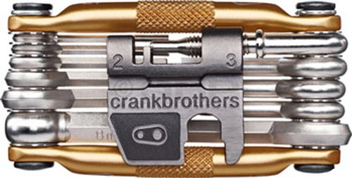 Bicycle Bike Crank (Crank Brothers Multi Bicycle Tool (17-Function, Gold))