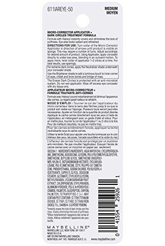 Maybelline New York Instant Age Rewind Eraser Dark Circles Treatment Concealer Makeup, Medium, 2 count by Maybelline New York (Image #3)