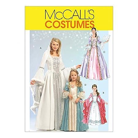 McCalls Ladies & Girls Sewing Pattern 5731 Princess Fancy Dress ...