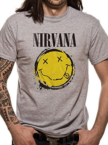 T-Shirt Homme Cid Nirvana-Smiley Splat