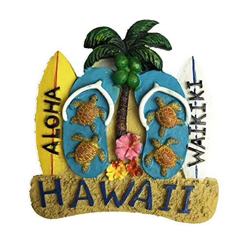 - Hawaii America Resin 3d Strong Fridge Magnet Souvenir Tourist Gift Chinese Magnet Hand Made Craft Creative Home and Kitchen Decoration Magnetic Sticker
