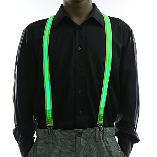 Glovion LED Light Up Illumination Suspenders for Party
