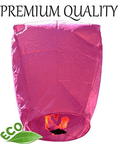 Mini Premium ECO Wire-Free Eclipse Chinese Flying Sky (Floating) Lantern Pink - Excellent Home Decor - Indoor & Outdoor