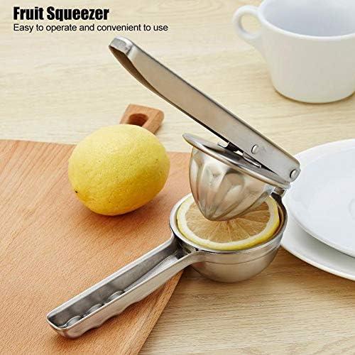 Exprimidor manual de acero inoxidable de plata, exprimidor de limón, exprimidor de fruta fuerte, para uso doméstico de cocina Accesorios de cocina uso doméstico