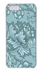 Floral Serene1 Custom iPhone 5s/5 Case Cover Polycarbonate Transparent