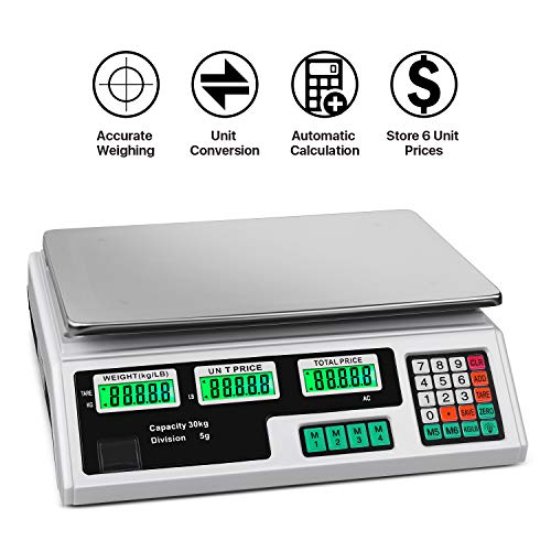 c04aad87da4f Flexzion Digital Scale Electronic Price Computing Rechargeable ...