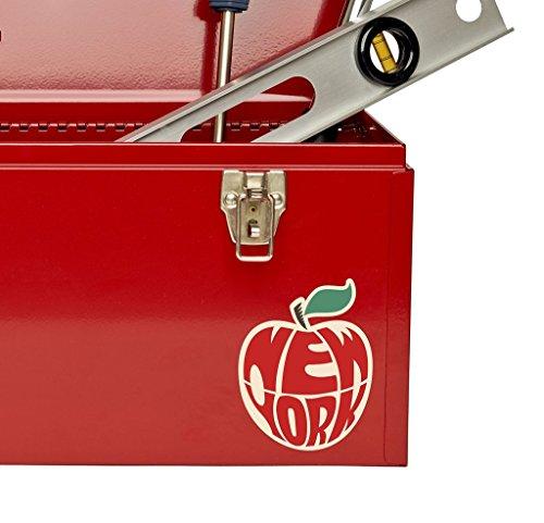 2 x 10cm- 100mm New York Big Apple Vinyl SELF ADHESIVE STICKER Decal Laptop Travel Luggage Car iPad Sign Fun #4071