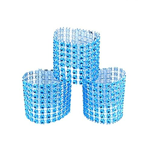 USFEEL 50Pcs Napkin Rings Rhinestone Bow Covers Chair Sash H