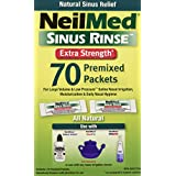 NeilMed Sinus Rinse Extra Strength Refill Packets, 70-Count