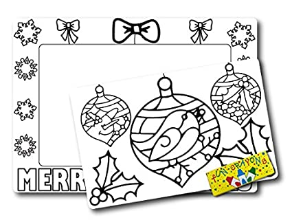 Amazon Color Your Own Christmas Ornaments Picture Frame Magnet