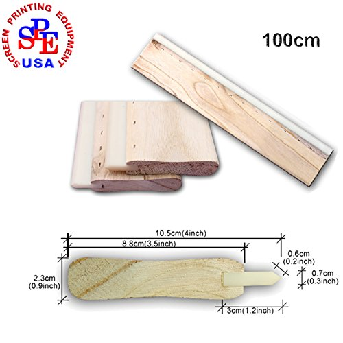 100cm(39inches) Silk Screen Printing Cusp Squeegee Oliness 75 Durometer by Screen Printing Consumables