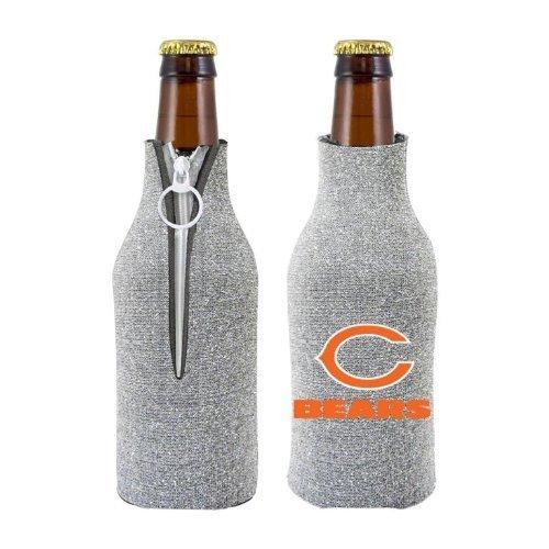 NFL 2012 Football Team Logo Womens Ladies Glitter Beer Bottle Holder Cooler - All 32 Teams Avaialble! (Chicago Bears) ()