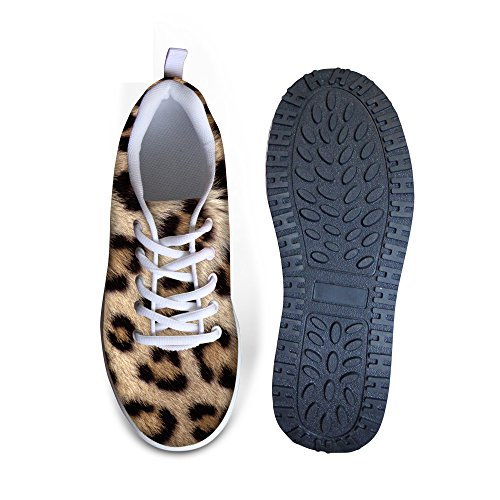 Câlins Idée Mode Chaussures De Sport Femmes Plate-forme Chaussures De Marche Léopard