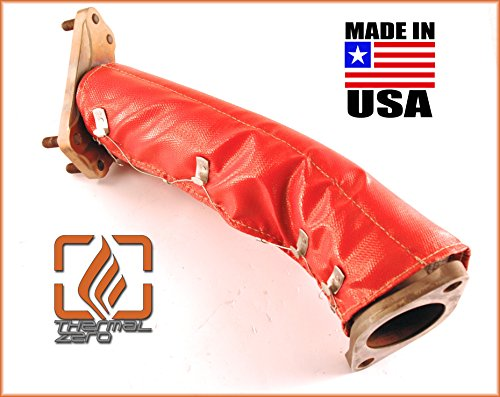 Subaru Legacy GT WRX STI Forester Turbo Uppipe Blanket for OEM and aftermarket up pipes Heat Shield Turbocharger 2300 degree blanket - Red - Thermal Zero - Made in USA