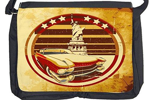 Borsa Tracolla Garage New York Vintage Stampato