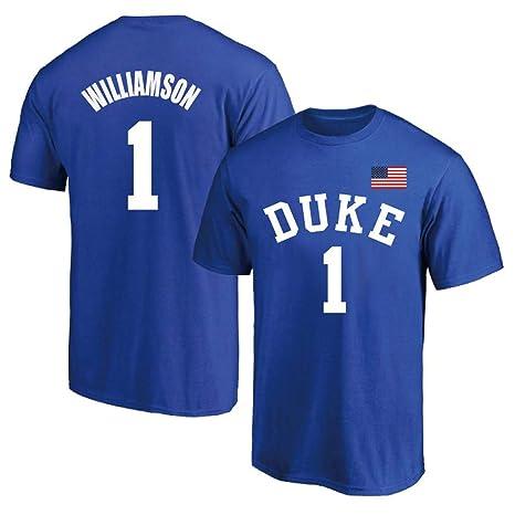 T-shirt NBA NCAA Summer Duke 1 Zion Williams Jersey Traje De ...