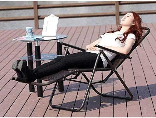 Chaise longue en rotin chaise pliante style européen bureau pause déjeuner chaise chaise de loisirs camping jardin balcon chaise longue plage chaise chaise pliante