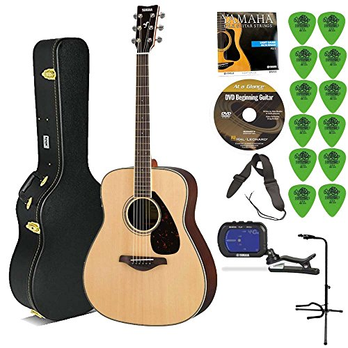 Yamaha Rosewood Natural Acoustic Guitar