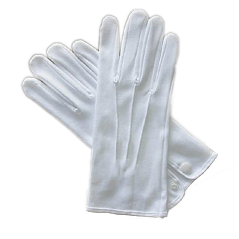White Cotton Gloves with Snap - Extra Large by Beyco (Alan Sloane) (Image #1)