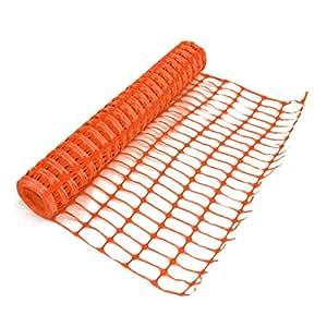 Amazon.com: Orange Plastic Mesh Barrier Fence Netting