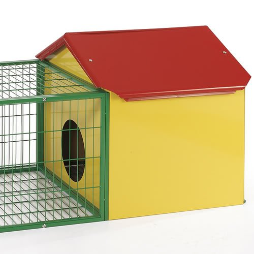 Flyline Extra Large Rabbit Guinea Pig House Cage Hutch Run Pen 60303