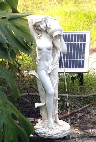 Garden Sun Light SL0605 Standing Girl Pond Spitter Solar Pump Kit 2 Watt Panel