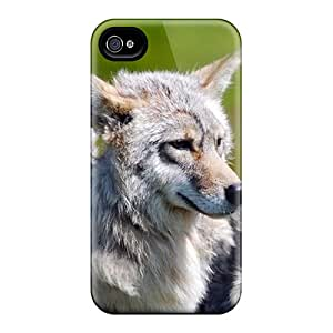 Ultra Slim Fit Hard ArtCart Case Cover Specially Made For Iphone 4/4s- Wolf
