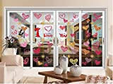 #4: Valentine's Day Window Clings Heart Stickers Decal -Wedding Party Decorations Supplies 140 PCS (multi color)