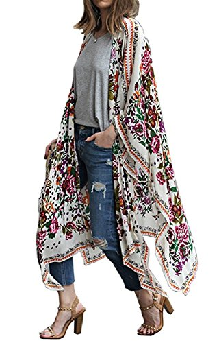 Chunoy Women Casual Loose Chiffon Long Kimono Cardigan for sale  Delivered anywhere in USA
