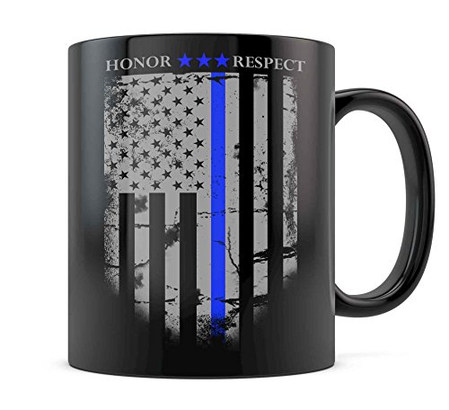 Blue Lives Matter Thin Blue Line Coffee Mug Support Law Enforcement