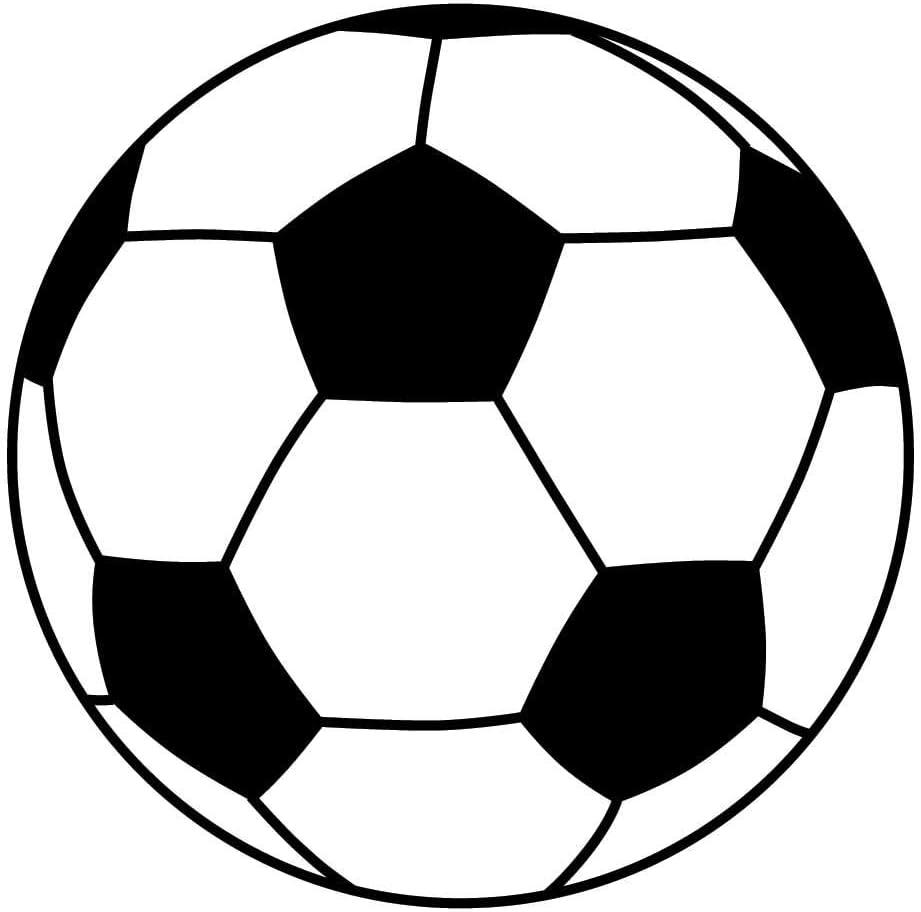 Soccer Ball Black Vinyl Decal Sticker for 13