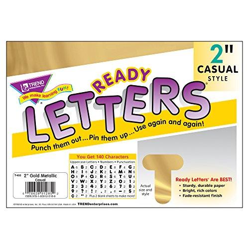 Trend Enterprises 140 Piece Casual Ready Letters, 2