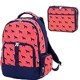 Reinforced Design Water Resistant Backpack and Lunch Sack Set, Dog Days