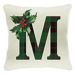 Christmas Farmhouse Home Decor Naive Argo Personalized 18×18 Throw Pillows for Christmas House Decoration | Customize Farmhouse Happy Merry Xmas Tree… farmhouse christmas pillow covers