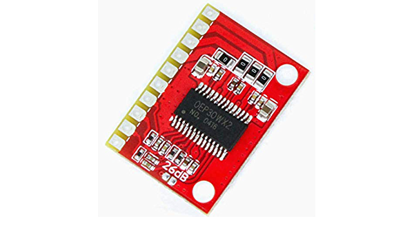 UIOTEC OEP30Wx2 Module DC 12V-24V OEP 30W x2 36dB Class D Digital Power Amplifier Board 15W x2 Mini Amp Module Replace TDA8932