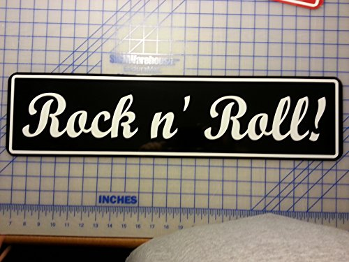 ROCK & ROLL Street Sign (Street Roll Rock)