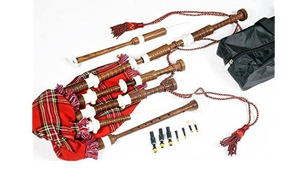 Gran gaita escocesa en las tierras altas de tamaño completo (paquete de arranque Kit): Amazon.es: Instrumentos musicales