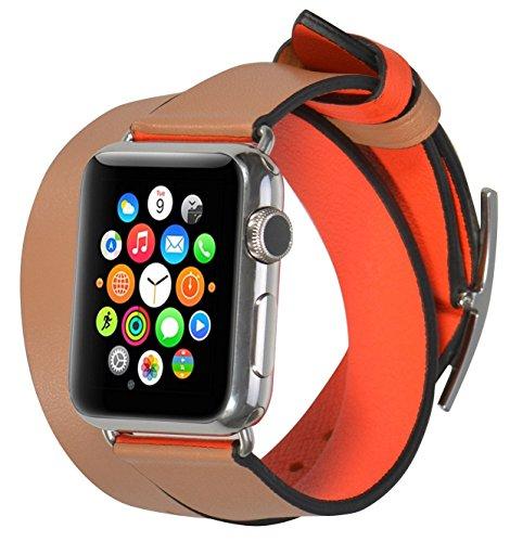JSGJMY Leather Dual face wear SandyBrown OrangeRed