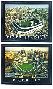 Amazon Com Framed Detroit Tigers Aerial Comerica Park And